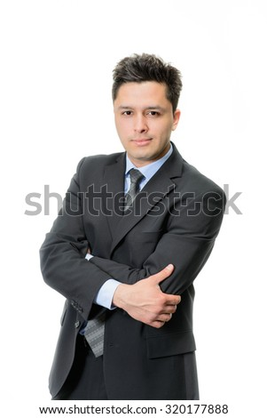 portrait of handsome businessman in suit