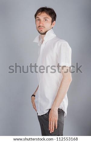 Portrait of handsome man - stock photo