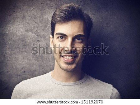 portrait of handsome man smiling