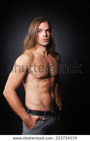 Naked guys with long hair — photo 2
