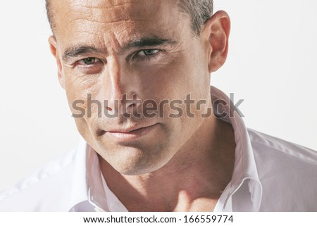Portrait of handsome mature man./  Portrait of handsome mature man.  - stock photo