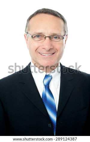 Portrait of handsome senior businessman