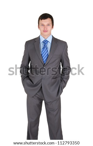 Portrait of handsome young businessman wearing casual dress - stock photo