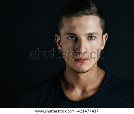 portrait of handsome young man