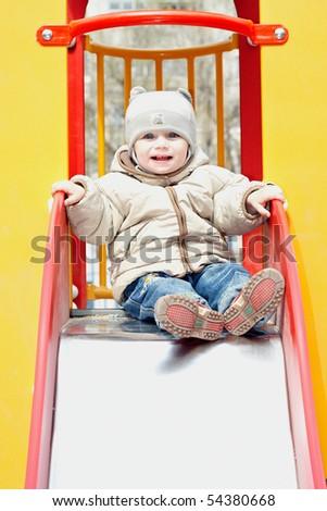 portrait of happy baby - stock photo