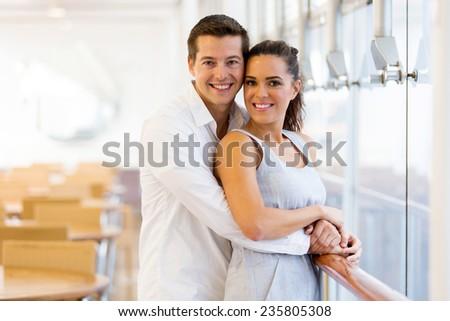 portrait of happy caucasian couple - stock photo