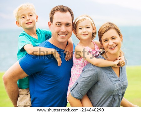 Portrait of Happy Family Outside