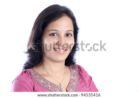 Portrait  of  happy indian woman