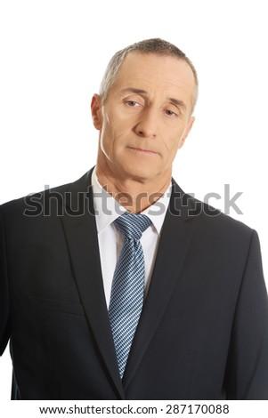 Portrait of happy mature businessman. - stock photo