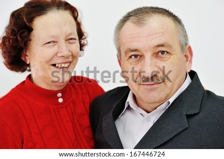 Portrait of happy middle aged couple - stock photo