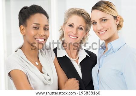 Portrait Of Happy Multi Ethnic Businesswoman - stock photo