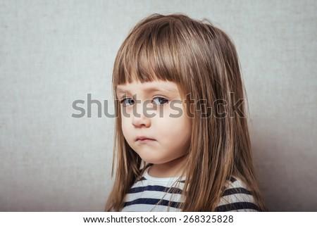 portrait of happy, positive, smiling, playful  caucasian girl - stock photo