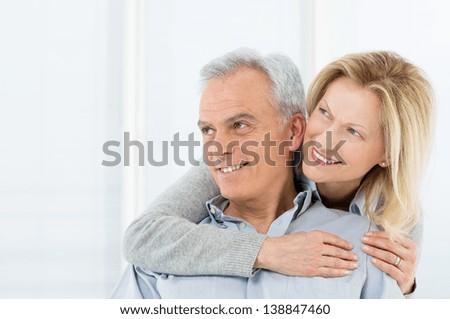 Portrait Of Happy Senior Couple Smiling - stock photo