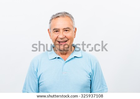 Portrait of happy senior man.Happy senior man - stock photo