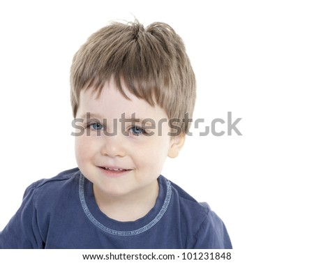 Portrait of happy young boy