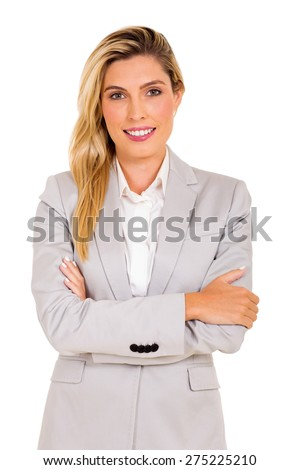 portrait of happy young business executive - stock photo