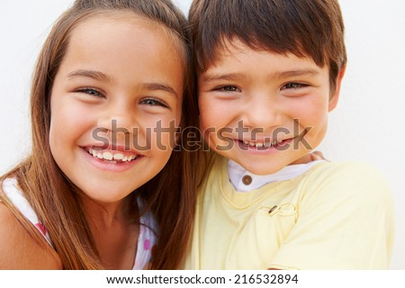 Portrait Of Hispanic Boy And Girl