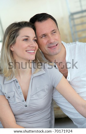 Portrait of in loved couple