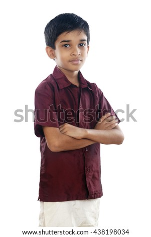 Portrait of Indian boy with Traditional Dress - stock photo