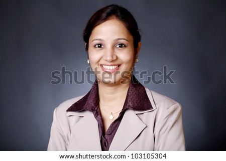 Portrait of Indian business woman - stock photo