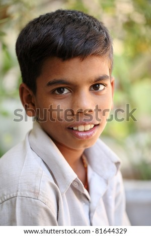 Portrait of Indian teen boy.