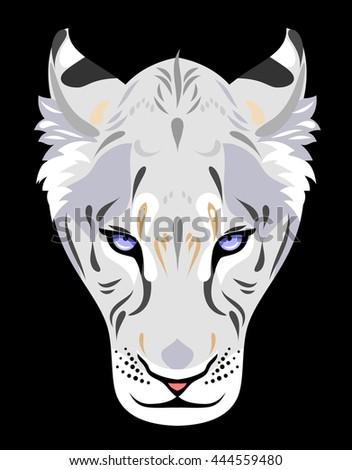 Portrait of lioness - stock photo