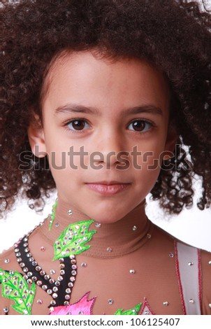 portrait of little african girl