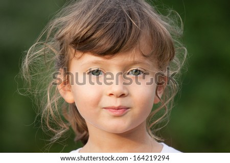 portrait of little girl