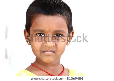 Portrait of little Indian girl
