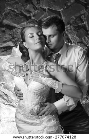 portrait of love in an artistic photo shoot - stock photo
