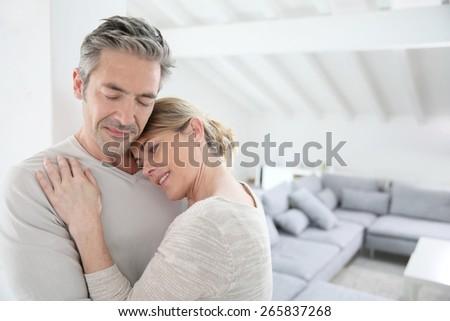Portrait of loving mature couple  - stock photo