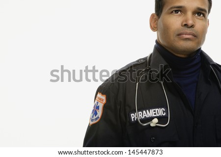 Portrait of male paramedic
