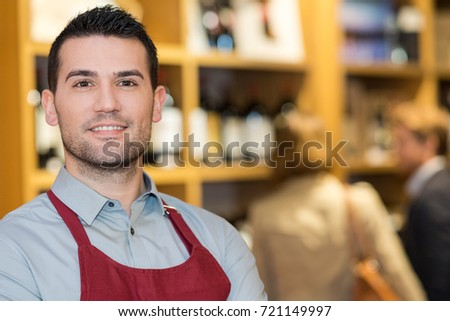 portrait of male wine merchant