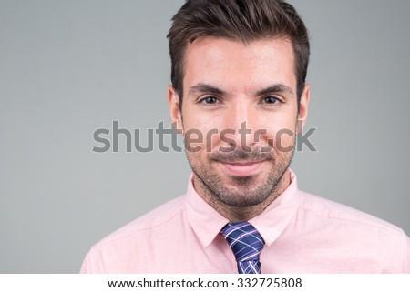 Portrait of man - stock photo