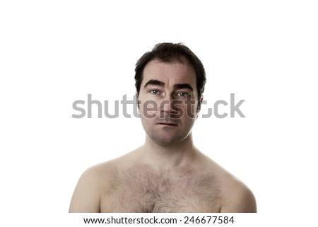 portrait of man taken in the studio - stock photo