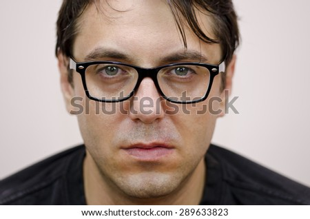 Portrait of man with glasses