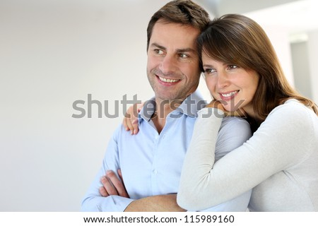 Portrait of married couple at home