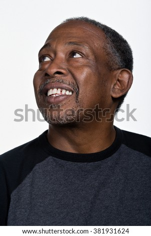Portrait of mature African American man - stock photo