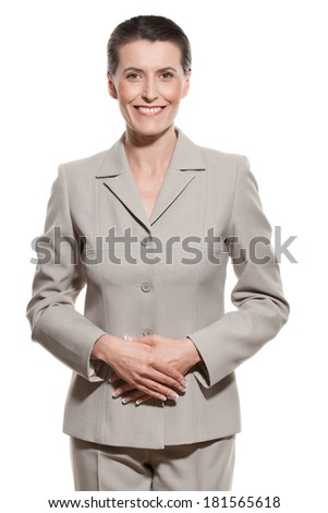 Portrait of mature businesswoman - stock photo