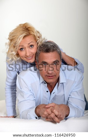 portrait of mature couple - stock photo