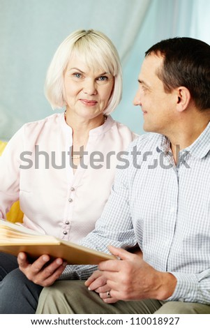 Portrait of mature man and his wife spending time together