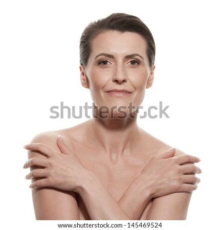 Portrait of mature woman - stock photo