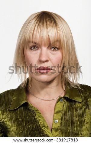 Portrait of mid adult Caucasian woman - stock photo