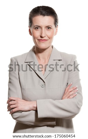 Portrait of middle-aged businesswoman - stock photo