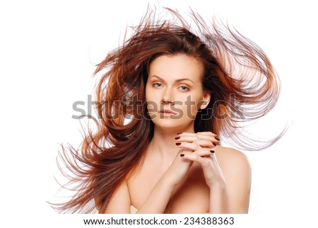 Portrait of model with good hair