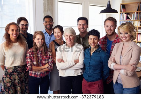 Portrait Of Multi-Cultural Business Team In Office