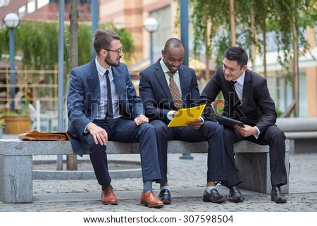 Portrait of multi ethnic business team  - stock photo
