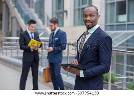 Portrait of multi ethnic  business team  - stock photo