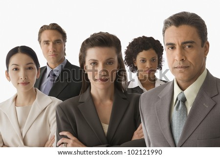 Portrait of multi-ethnic businesspeople - stock photo