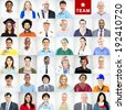 Portrait of Multiethnic Mixed Occupations People - stock photo